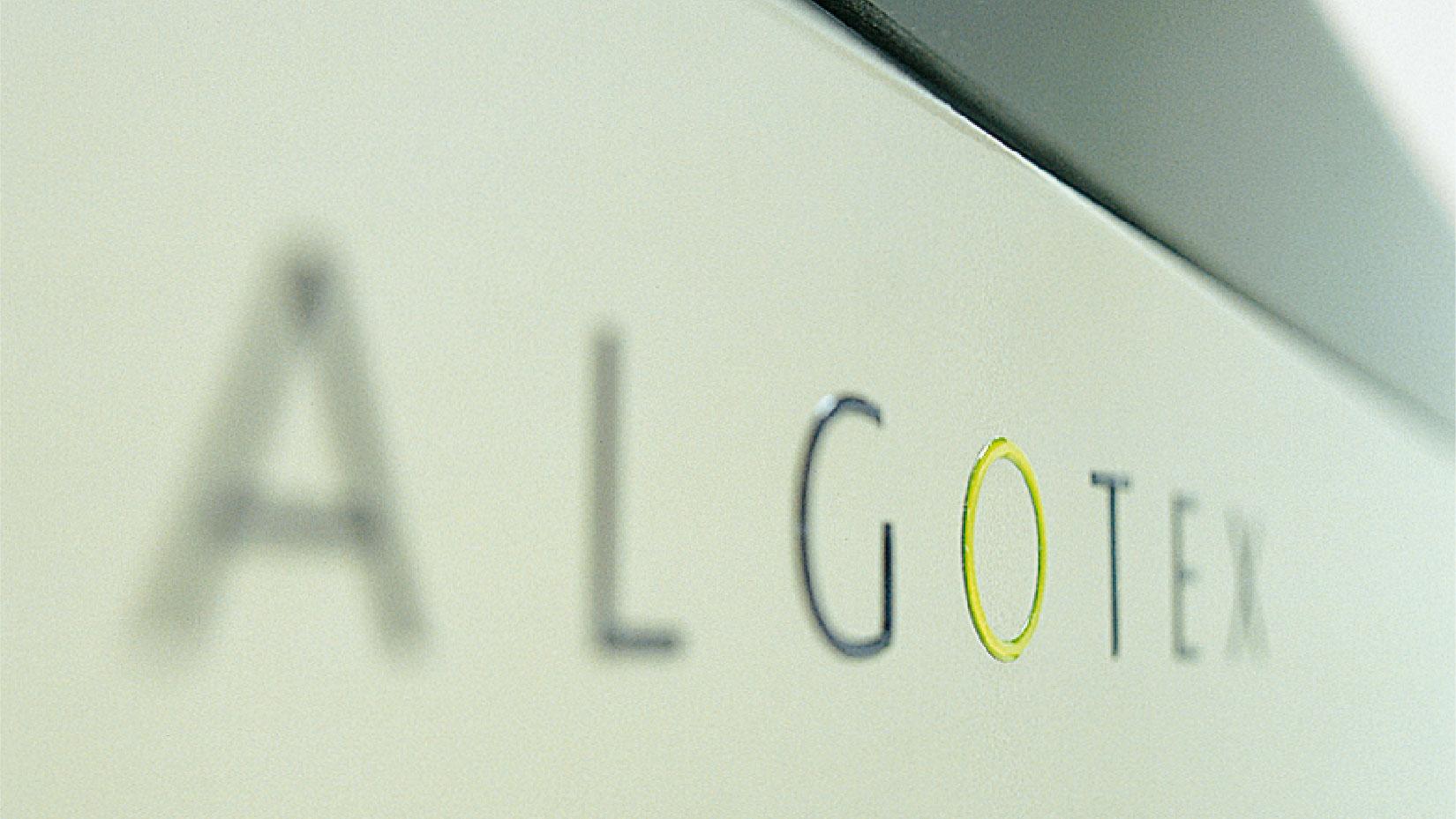Логотип Algotex, разработанный в 2000 году