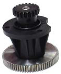 Riduzione Doga Aperta — Paper Feed / Take-up gear wheel, pinion + support